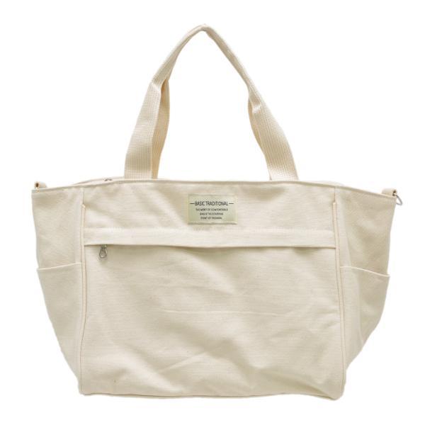 バッグ 10ポケット 2wayトート 軽量 高密度ナイロン キャンバス 多機能 マザーズバッグ ショルダーバッグ 斜め掛け レディース 大容量 旅行 送料無料|kiitos-web|33