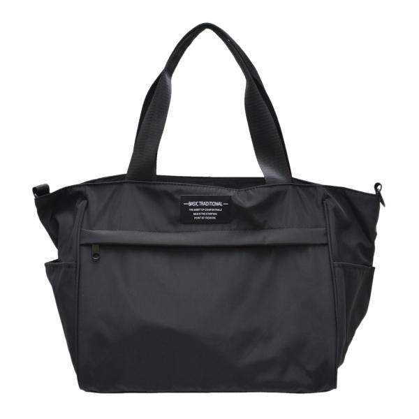 バッグ 10ポケット 2wayトート 軽量 高密度ナイロン キャンバス 多機能 マザーズバッグ ショルダーバッグ 斜め掛け レディース 大容量 旅行 送料無料|kiitos-web|21