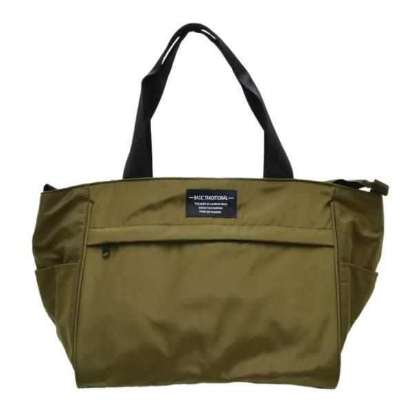 バッグ 10ポケット 2wayトート 軽量 高密度ナイロン キャンバス 多機能 マザーズバッグ ショルダーバッグ 斜め掛け レディース 大容量 旅行 送料無料|kiitos-web|24