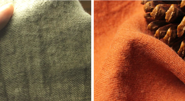 洗いこまれた綾織リネンウール