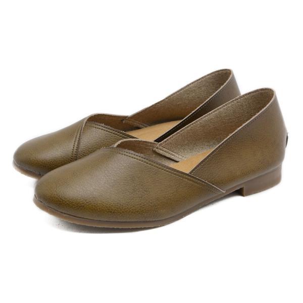 パンプス 走れるパンプス 痛くない 歩きやすい ローヒール 大きいサイズ フラットシューズ  ナチュラル ぺたんこ 疲れない 柔らかい レディース 靴|kilakila|26