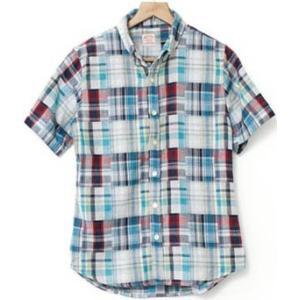 2レイヤーボタンダウンチェックシャツ(半袖) kilostore 05