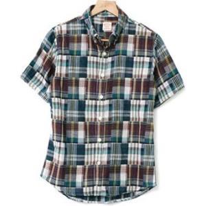 2レイヤーボタンダウンチェックシャツ(半袖) kilostore 08