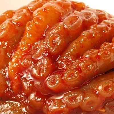 シコシコとした手長蛸の歯ごたえが美味しいタコキムチ