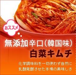 本場韓国の美味しさ!無添加辛口白菜キムチ