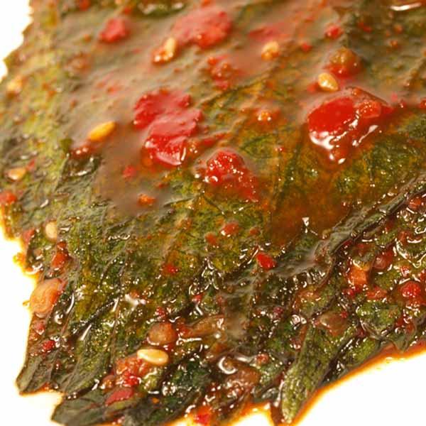 ごはんが美味しくなるエゴマの葉キムチ