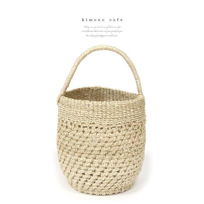 レディース 浴衣カゴバッグ カゴ 編み 夏 アバカ
