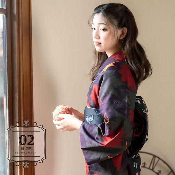 洗える着物 小紋 袷 新作 KIMONOMACHI きもの福袋 洗える 着物 袷着物単品 全12柄 サイズS M L LL 2021年 福袋 レディース (メール便不可)|kimonomachi|16