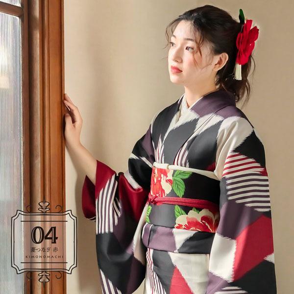 洗える着物 小紋 袷 新作 KIMONOMACHI きもの福袋 洗える 着物 袷着物単品 全12柄 サイズS M L LL 2021年 福袋 レディース (メール便不可)|kimonomachi|18