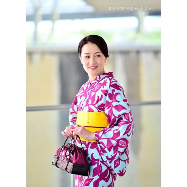 (Prices down)女性浴衣セット レディース浴衣福袋2点セット 大人 KIMONOMACHI ポリエステル浴衣と帯のセット サイズS/F/TL/LLss1909ykl30|kimonomachi|09