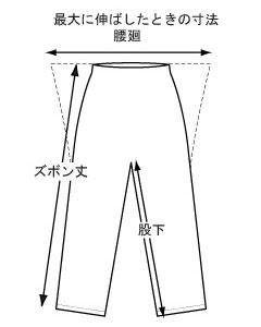 レインウェア・レインコート・レインスーツ・カッパ・雨具・ポンチョ サイズの測り方パンツ
