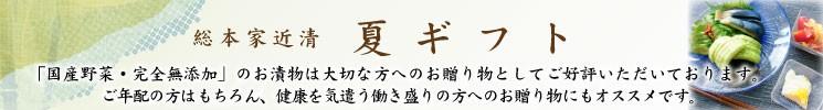 【総本家近清のお中元】夏ギフト