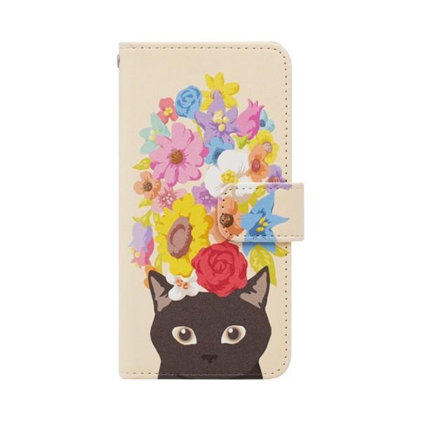 猫 スマホケース 手帳型 iphonexs ケース 携帯ケース アイフォンxs スマホカバー 手帳 アイホン おしゃれ 動物 花柄|kintsu|11