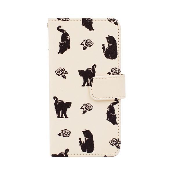 猫 スマホケース 手帳型 iphonexs ケース 携帯ケース アイフォンxs スマホカバー 手帳 アイホン おしゃれ 動物 花柄|kintsu|13