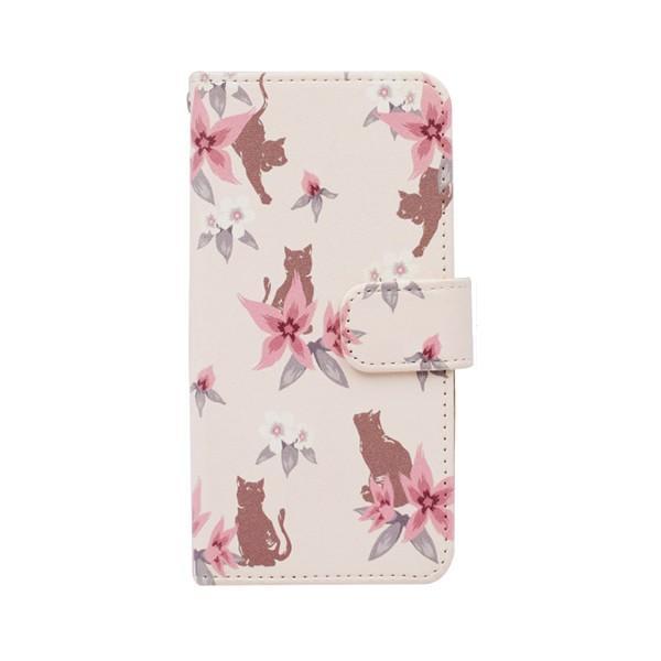猫 スマホケース 手帳型 iphonexs ケース 携帯ケース アイフォンxs スマホカバー 手帳 アイホン おしゃれ 動物 花柄|kintsu|18