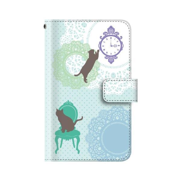 スマホケース 手帳型 全機種対応 iphone8 iPhone XR AQUOS r3 sense2 ケース Xperia 1 ace xz3 xz2 GALAXY S10 携帯ケース アンドロイド ねこ|kintsu|12
