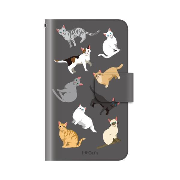 猫 スマホケース 手帳型 iphonexs ケース 携帯ケース アイフォンxs スマホカバー 手帳 アイホン おしゃれ 面白い  猫|kintsu|13