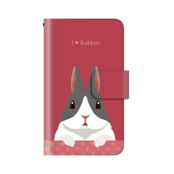 スマホケース 手帳型 iphone8 ケース アイフォン8 携帯ケース スマホカバー 手帳 アイホン おしゃれ 面白い うさぎ|kintsu|07