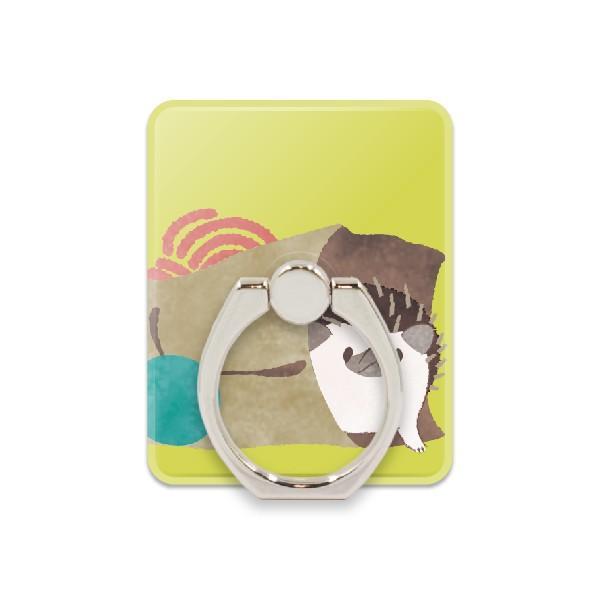 スマホリング おしゃれ スマホスタンド リングホルダー バンカーリング 動物 ハリネズミ 軽量 iphone android 落下防止 スタンド 360度回転|kintsu|16