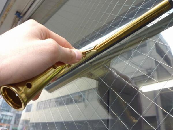 【ムラを残さず汚れを落とす!】窓掃除・浴室鏡の水切り用 ガラススクイジー