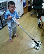 日頃の床掃除に。乾拭き・水拭き両用可能です。