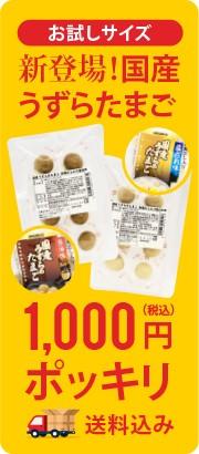 1000円ポッキリ 国産うずらたまご