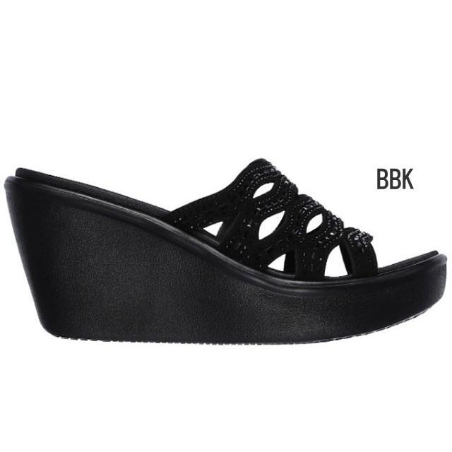 スケッチャーズ SKECHERS 33474 RUMBLE UP - FUNNY BUSINESS サンダル ウエッジ 厚底 レディース 婦人 BBK ブラック/ブラック BLK ブラック 靴 kksimple 07
