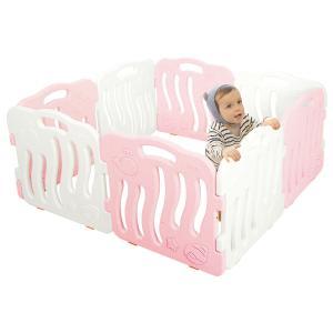 ベビーサークル ベビーゲート おしゃれ プレイヤード プラスチック セーフティーゲート 赤ちゃん 柵 安全 ifam if01|knktrading|24