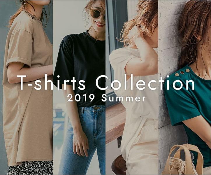 人気レディースファッション通販の神戸レタス【Yahoo!ショッピング店】2019夏トレンドTシャツコレクション