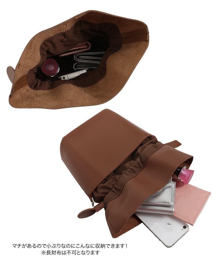 旅行 ショルダー付き巾着バッグ バッグ 鞄 ショルダーバッグ 巾着 コンパクト お出かけ B1288