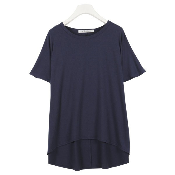 Tシャツ ゆるT 落ち感 トップス カットソー ボリューム袖 トップス  体型カバー レディース ドレープ C3150送料無料メ便対応|kobelettuce|13