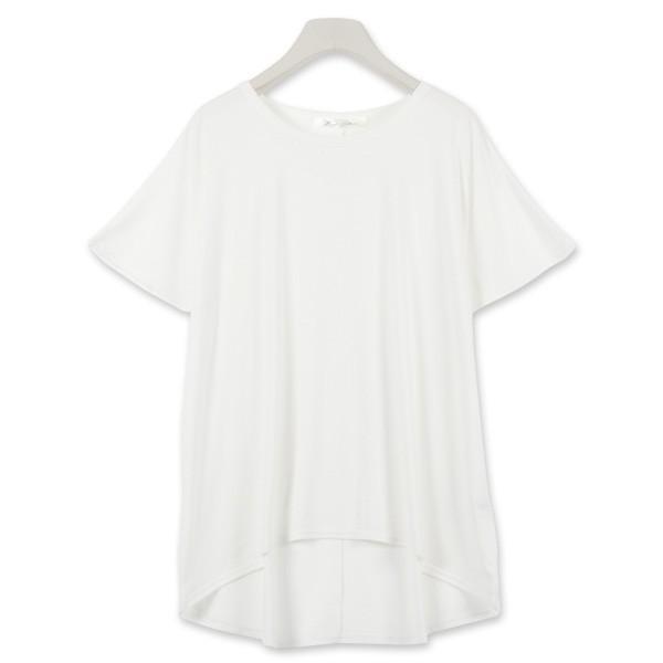 Tシャツ ゆるT 落ち感 トップス カットソー ボリューム袖 トップス  体型カバー レディース ドレープ C3150送料無料メ便対応|kobelettuce|07