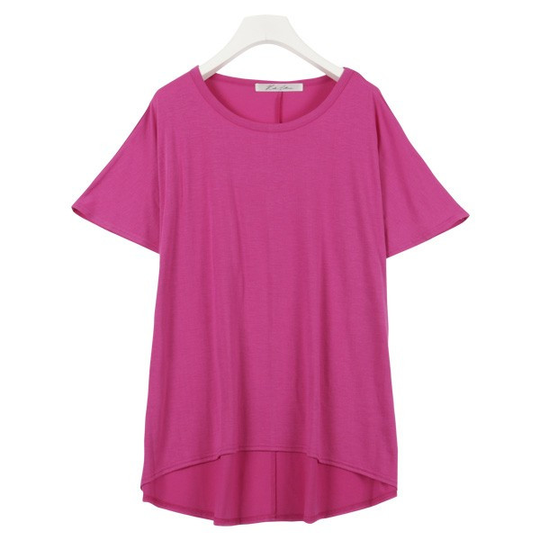 Tシャツ ゆるT 落ち感 トップス カットソー ボリューム袖 トップス  体型カバー レディース ドレープ C3150送料無料メ便対応|kobelettuce|12