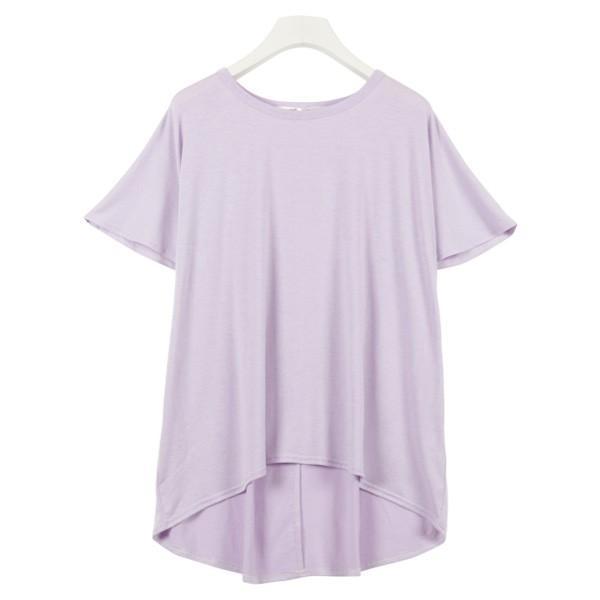 Tシャツ ゆるT 落ち感 トップス カットソー ボリューム袖 トップス  体型カバー レディース ドレープ C3150送料無料メ便対応|kobelettuce|10