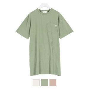 [近藤千尋さんコラボ]ポケット付きサイドスリットゆるTシャツ