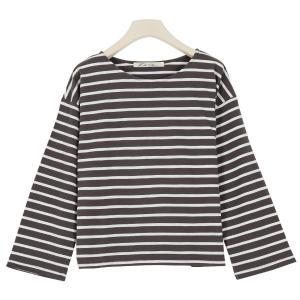 Tシャツ トップス レディース カットソー 長袖 コットン インナー ゆったり 体型カバー ロンT C4452|神戸レタスKOBELETTUCE