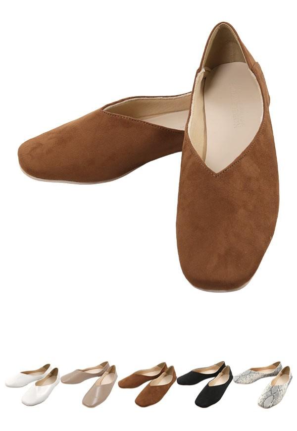 春 スクエアトゥ2wayバブーシュ レディース 靴 シューズ パンプス フラットパンプス バブーシュ 2way I1755
