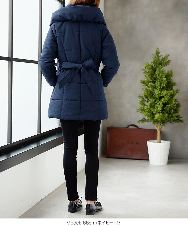 中綿コート ダウン ロングコート ダブルカラー 2017 秋冬 アウター レディース 通勤 オフィス きれいめK514