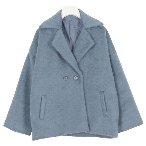 シャギーショート丈コート