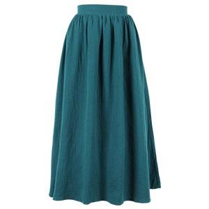 ダブルガーゼマキシ丈スカート