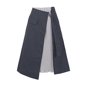 プリーツラップレイヤードスカート
