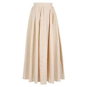 リネン風タックギャザーマキシスカート