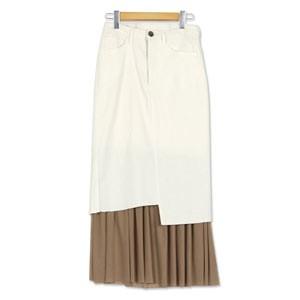 裾チュールストレッチスカート