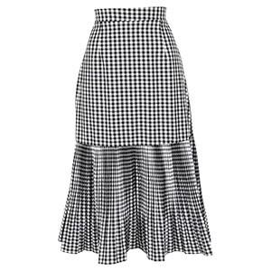 裾切り替えプリーツスカート [M2457]