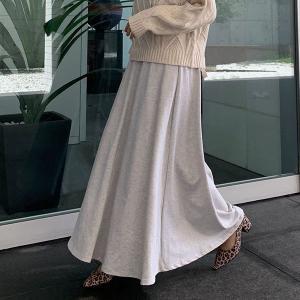 目玉セール スカート ボトムス スウェット ロングスカート マキシスカート スカート ウエストゴム レディース M2576送料無料|神戸レタスKOBELETTUCE