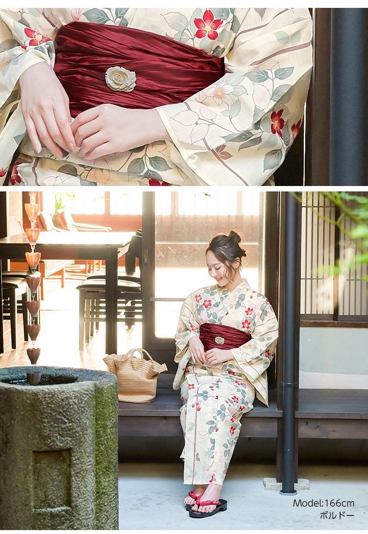 yukata くしゅふわシワ兵児帯 レディース へこ帯 アレンジ 華やか 浴衣帯 無地 花火大会 浴衣 X365
