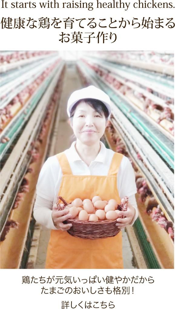 健康な鶏を育てることから始まるお菓子作り
