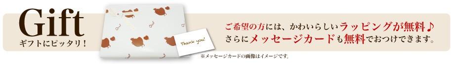 ご希望の方にはラッピング・メッセージカード無料♪