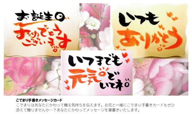 花の店 こでまり ヤフーショップ メッセージカード