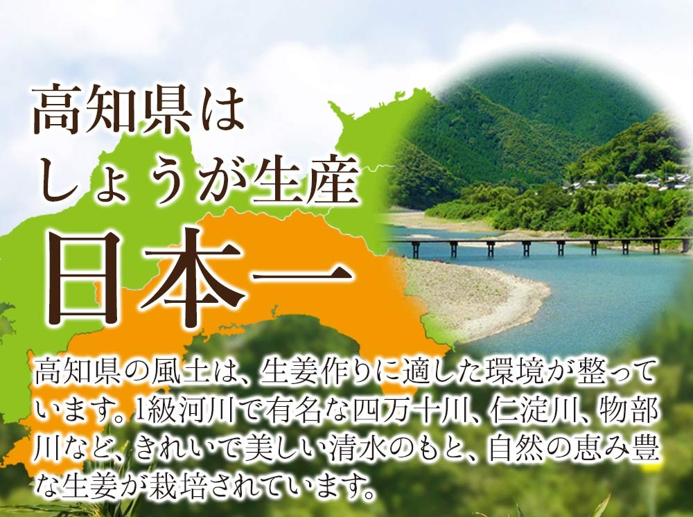 高知県はしょうが生産日本一